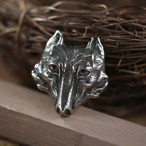 Vintage Wolf Stainless Steel Viking Pendant