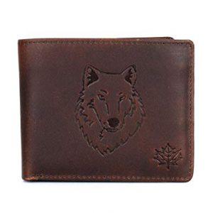 Karla Hanson Men's RFID Blocking Leather Wallet (Brown Wolf)