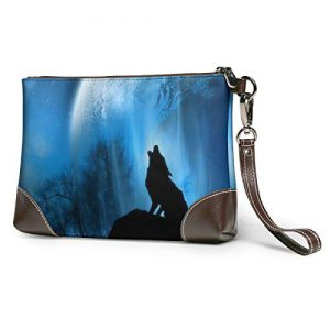 Earth Wolf Soft Leather Clutch Crossbody Purses Clutch Phone Wallets With Card Slots For Women