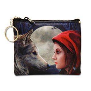 Lisa Parker Key Chain Coin Purse - Wolf Moonstruck