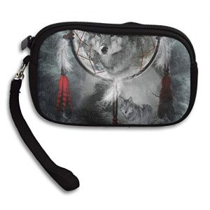 Danger Animal Wolf Dreamcatcher Deluxe Printing Small Purse Portable Receiving Bag