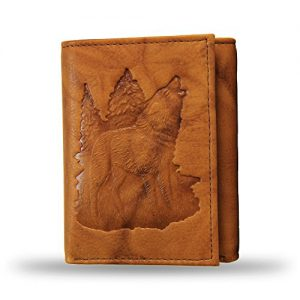 Outdoor Scene Embossed Trifold Wallet