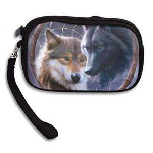 Awesome Wolf Dreamcatcher Deluxe Printing Small Purse Portable Receiving Bag