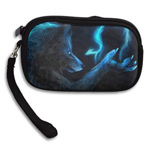 Dark Werewolf Wolf Deluxe Printing Small Purse Portable Receiving Bag