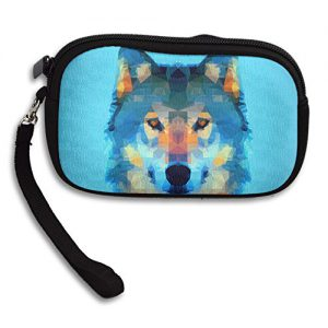 Low Poly Wolf Deluxe Printing Small Purse Portable Receiving Bag