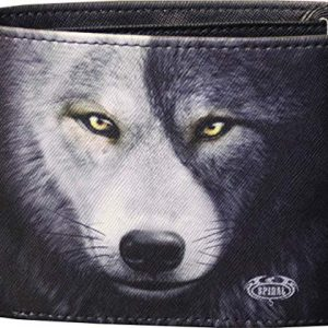 Spiral - Wolf Chi - BiFold Wallet with RFID Blocking and Gift Box