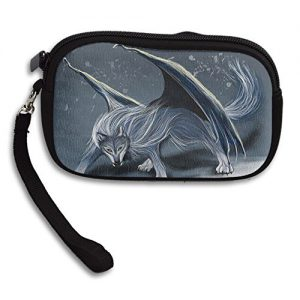 Cool Wolf Deluxe Printing Small Purse Portable Receiving Bag
