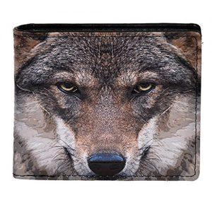 Shag Wear Men's Bifold Wallet Portrait of a Wolf