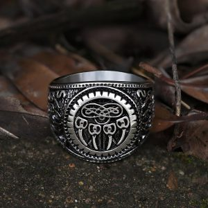 Bear Claw Stainless Steel Viking Ring