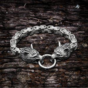 Celtic Wolf Stainelss Steel Beast Viking Bracelet
