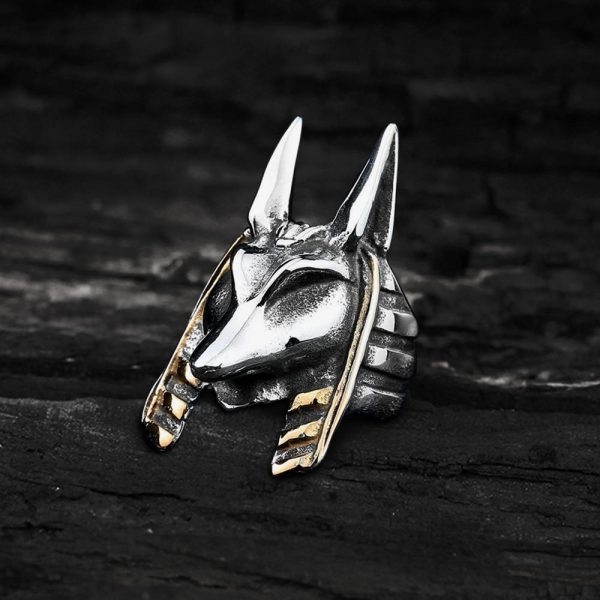 Wolf Amulet Stainless Steel Egypt Ring