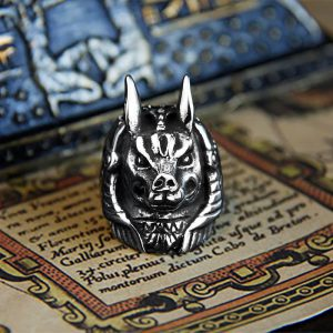 Wolf 316L Stainless Steel Beast Ring