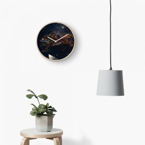 Celestial Wolf Clock