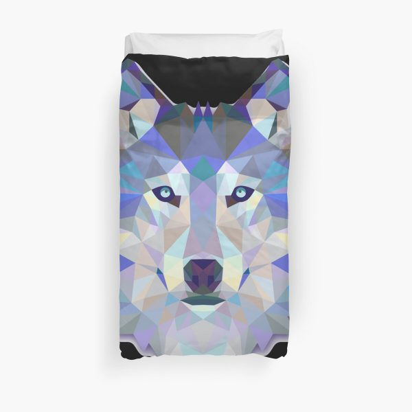 Cool Colorful Wolf Duvet Cover