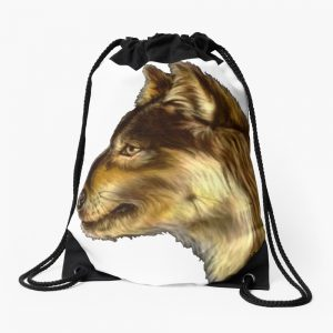 Wolf : Is that what I think it is? Hmmm. Drawstring Bag