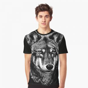 Wolf Face Art Graphic T-Shirt