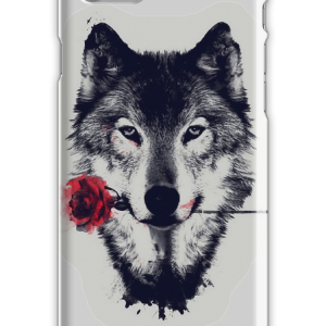 The Wolf With a Rose iPhone 7 Snap Case
