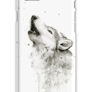Wolf Howling Watercolor iPhone 7 Snap Case