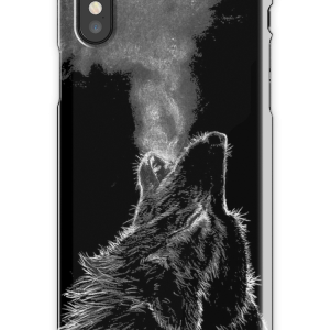 Wolf iPhone X Snap Case