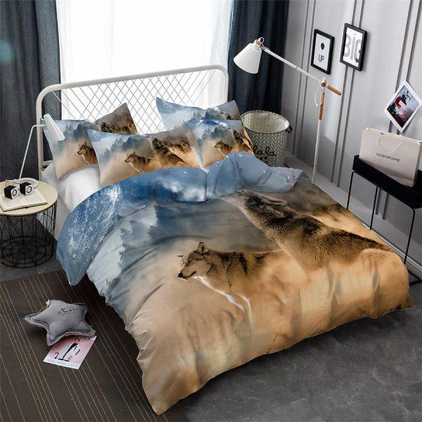2/3-Piece Howling Wolf Breath Duvet Cover Bedding Set