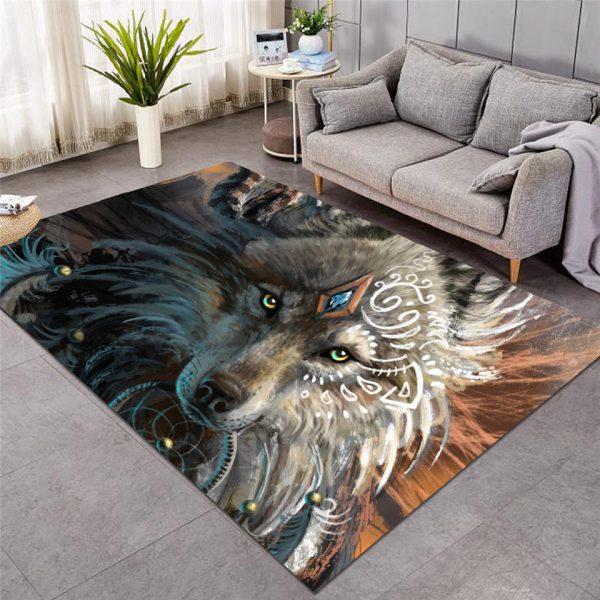 Wolf Warrior Floor Mat