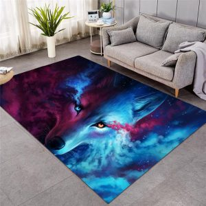Where Light & Dark Meet Lion / Wolf Floor Mat