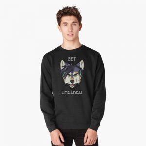 GET WRECKED - Wolf Pullover Sweatshirt