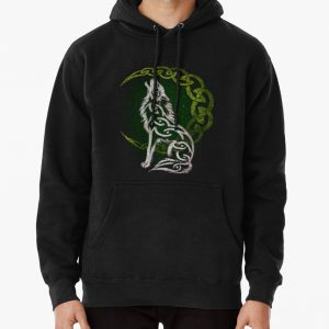 Celtic Wolf Pullover Hoodie