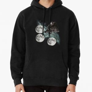 Three moon wolf Pullover Hoodie