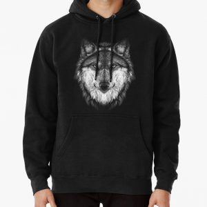 Wolf face Pullover Hoodie