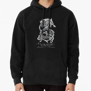 Fenrir: The Monster Wolf of Norse Mythology (Gray) Pullover Hoodie