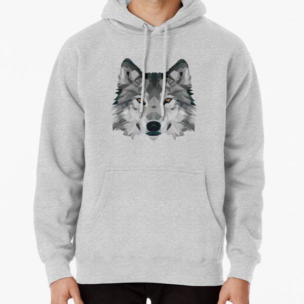 Crystalline Wolf Pullover Hoodie