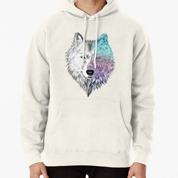 Wolf Mandala Pullover Hoodie