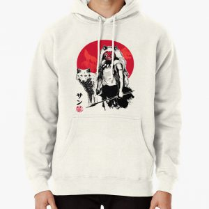 Wolf Girl sumi-e Pullover Hoodie
