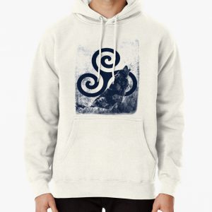 Triskele and Wolf Pullover Hoodie