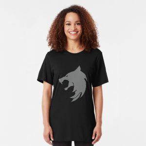 Slim Fit White Wolf T-Shirt