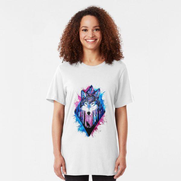 Slim Fit Spiritual Wolf T-Shirt