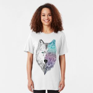 Wolf Mandala Slim Fit T-Shirt