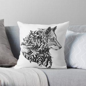 Wolf Profile Throw Pillow