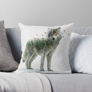Wild I Shall Stay | Wolf Throw Pillow