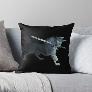 Great Grey Wolf Sif Throw Pillow