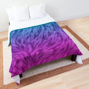 Blue Pink Wolf Fur Comforter