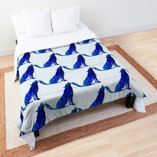Blue Wolf Comforter