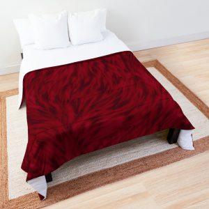 Burgundy Wolf Fur Comforter