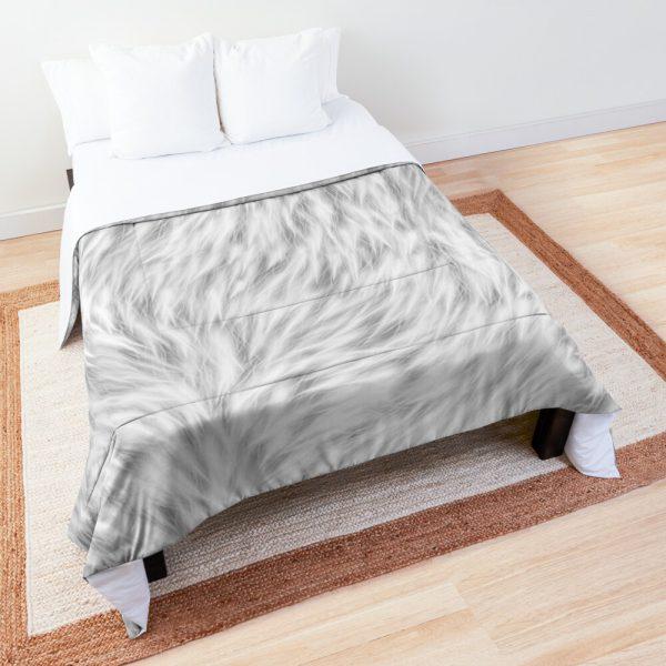 White Wolf Fur Comforter