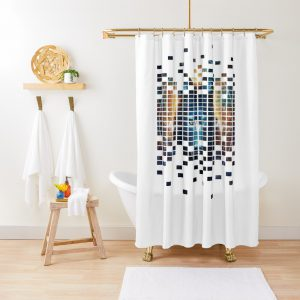 Colorful Wolf Artistic Design Shower Curtain