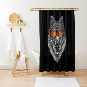 Wolf With Sunglasses wolf lover Shirt Shower Curtain