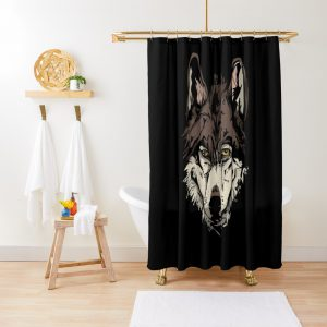WOLF FACE ILLUSTRATION Shower Curtain