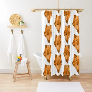 wolf art funny gift for men women and kids Shower Curtain