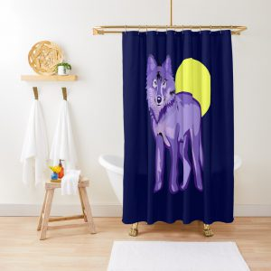 Cool Wolf Full Moon Shower Curtain